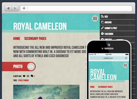 Royal Cameleon Tumblr Theme